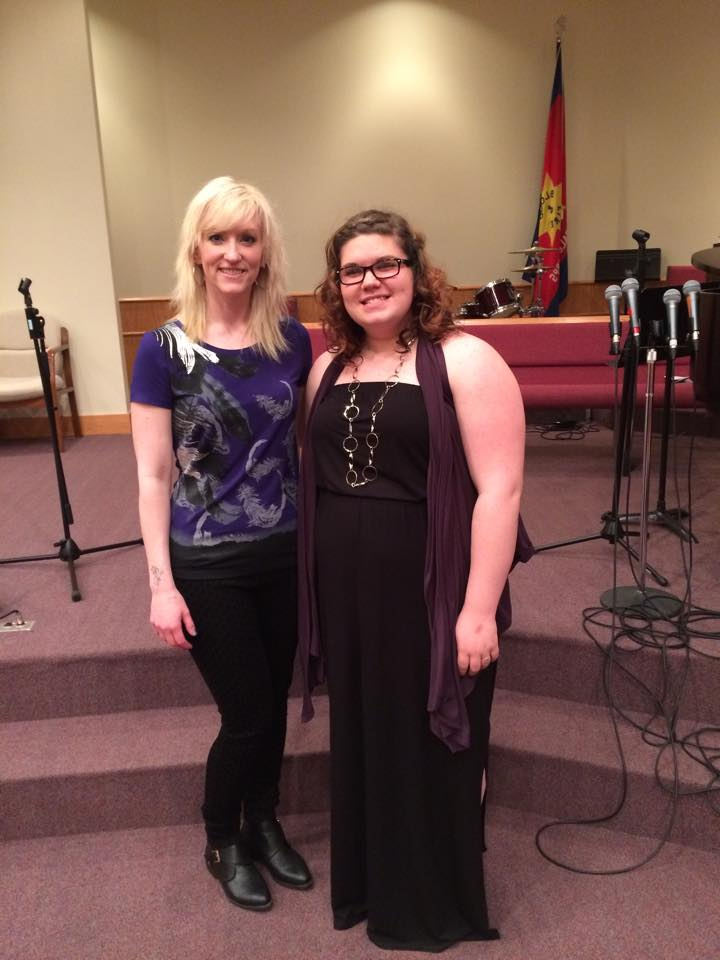 Miss Sharona and her student at the recital
